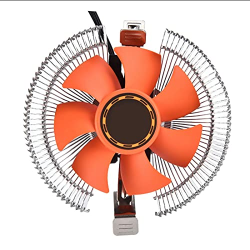 Shipenophy Pequeño, Ultra silencioso, Universal, disipador de Calor, refrigeración, CPU, Enfriador, tamaño pequeño, Flujo de Aire Grande para computadoras de Escritorio Intel AMD