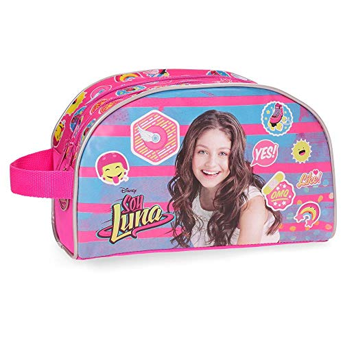 Trousse de toilette double compartiment adaptable Yo Soy Luna Rose