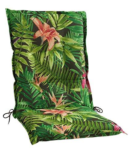Sesselauflage Sitzpolster Gartenstuhlauflage für Mittellehner | B 50 cm x L 110 cm | Mehrfarbig | Baumwolle | Polyester