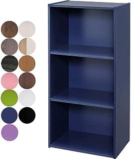 アイリスオーヤマ カラーボックス 3段 13色 収納ボックス 本棚 幅41.5×奥行29×高さ88cm  ネイビー CX-3