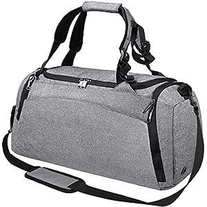 Bolsa Deporte Bolsa Gimnasio de Viaje Impermeable Bolsos Deportivos Fin de Semana Travel Duffle Bag para Hombre y Mujer…