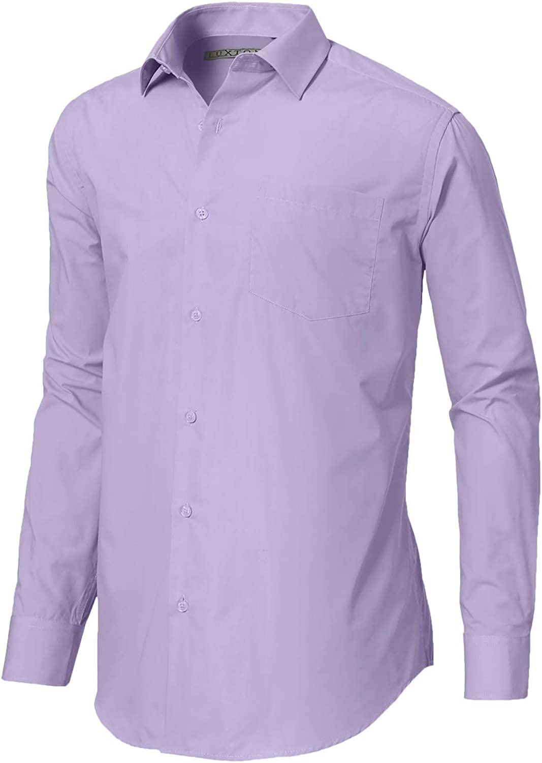 Luxton Men's Regular Fit Long Sleeve Cotton Poly Dress Shirt – Available in More Colors