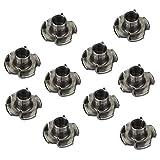 10 x SO-TECH® Tuercas de Púas M10 x 13 x 25 mm con 4 Puntas de Entrada para Fijar varios Componentes en Muebles/Tuercas de Seguridad