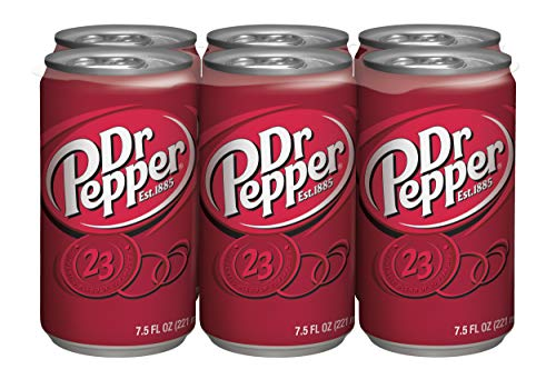 Dr Pepper Soda, 7.5 Fl Oz Can (pack of 6)