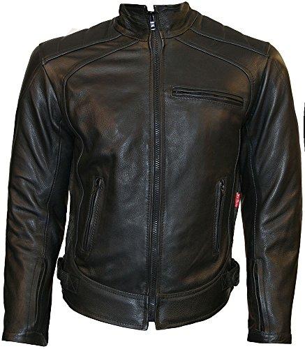 Skintan Daytona - Herren Leather Cowhide CE Armoured Motorradjacke Jacke