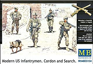 MODERN US INFANTRYMEN. CORDON AND SEARCH 4 FIGURES 1/35 MASTER BOX 35154 FREE SHIPPING