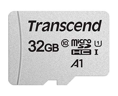 Transcend Highspeed 32GB micro SDXC/SDHC Speicherkarte (für Smartphones, etc. und Digitalkameras) / Class 10, UHS-I, A1 – TS32GUSD300S-A (mit Adapter)