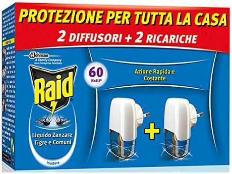 3506 opinioni per Raid Liquido Elettrico Antizanzare Tigre e Comuni Pacco Promo, Contiene 2
