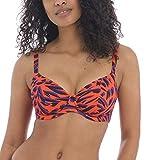 Freya Women's Tiger Bay Underwire Plunge Bikini Swim Top AS0702 30F Sunset