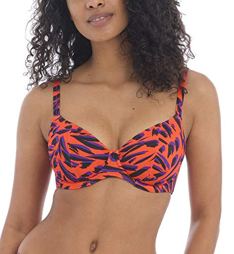 Freya Women's Tiger Bay Underwire Plunge Bikini Swim Top AS0702 30HH Sunset