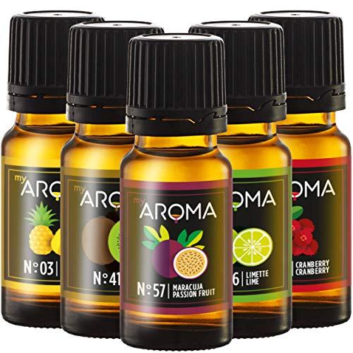 myAROMA | Set: Ferne Länder - rein natürliches Aroma für Cocktails & Mixgetränke (5x 10ml) | Zuckerfrei & ohne Süßung