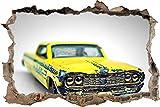 Etiqueta De La Pared 3D - coche de juguete viejo oxidado - Papel pintado - Dormitorio Decoración para dormitorio de bebé Decoración del hogar 70x110cm