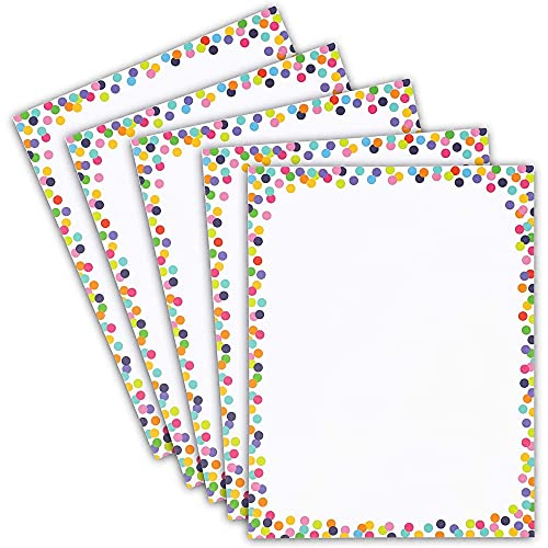 Confetti Stationery Paper for Writing Letters, Printing (8.5 x 11 In, 96 Sheets)