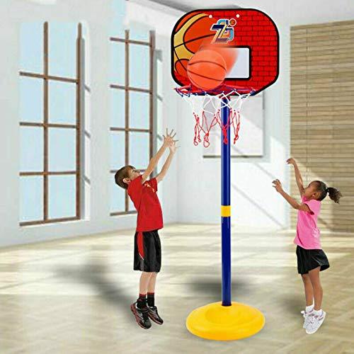 YLJR Soporte de baloncesto para niños, mini 108 cm, ajustable, elevable, para baloncesto, para uso en interiores y exteriores, ideal para entrenamiento de baloncesto