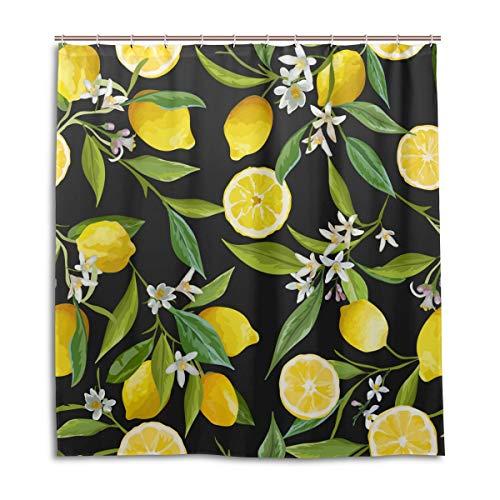 vinlin Duschvorhang, wasserfest, 168 x 183 cm, Zitronengelb, Polyester, Multi, 66x72 inch