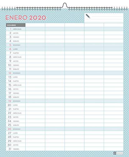 Miquelrius 28053 - Calendario de Pared A3 Familiar Lovely DIY 2020 Castellano