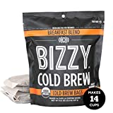 Bizzy Organic Cold Brew Coffee | Breakfast Blend | Coarse Ground Coffee | Brew Bags | 4 Count |...