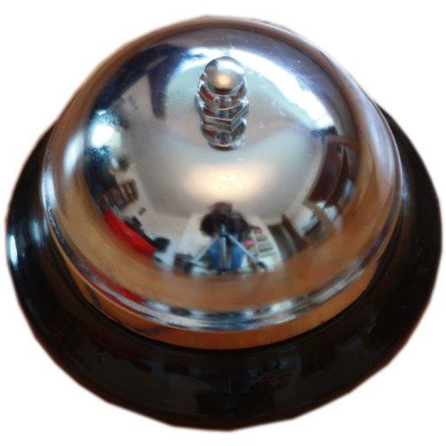 west5products Metal Plateado Servicio Timbre De Mesa Boy Bell