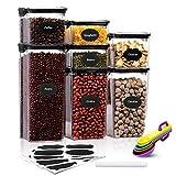 Aitsite 7PCS Set di Contenitori per Alimenti Contenitori per Cereali Plastic Jars 1 * 1.8L...