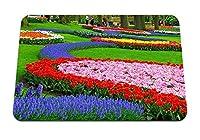 22cmx18cm マウスパッド (チューリップヒヤシンスムスカリ花壇公園美しさ) パターンカスタムの マウスパッド