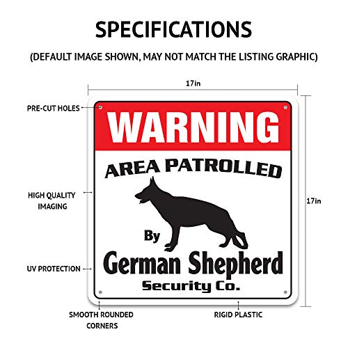 Bull Terrier Security Sign Area Patrolled pet Dog Lover Puppy Vet Breeder Leash Photo #4
