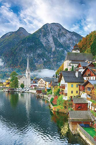 Notebear: Foggy Autumnal Sunrise At Famous Hallstatt Lakeside Town Reflect Journal (Travel Notebook & Diary with Alternate Blank & Lined Pages, Band 250)