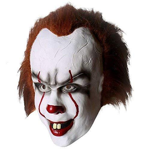 Yacn Maschere in lattice clown Pennywise IT da adulti per feste party halloween