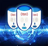 XZYP Animal Repeller,Electronic Repeller Indoor Plug in Mosquito Control for Bugs And Insects Mice Rodent Roach, Child And Pets Safe Control (3 Packs)