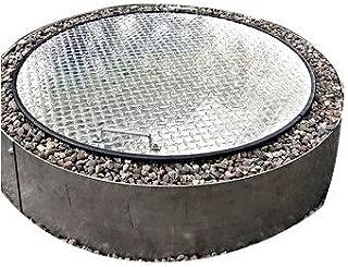 Flat Metal Aluminum Fire Pit Cover Top 38