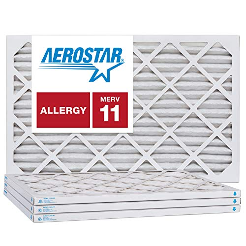Aerostar 16x21x1 MERV 11, Pleated Air Filter, 16x21x1, Box of 4, Made in The USA