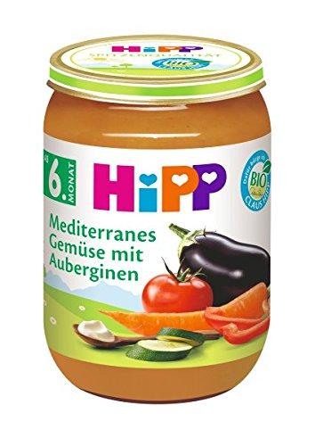 HiPP Mediterranes Gemüse mit Auberginen, 6er Pack (6 x 190 g)