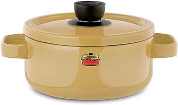 Saucepan Nonstick Ceramics Sauce Pot with LidSoup Pan Stock Pot Suitable for Home And Outdoor (Color : Yellow)