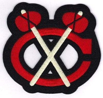 National Emblem Chicago Blackhawks Shoulder Logo Alternate Jersey Patch