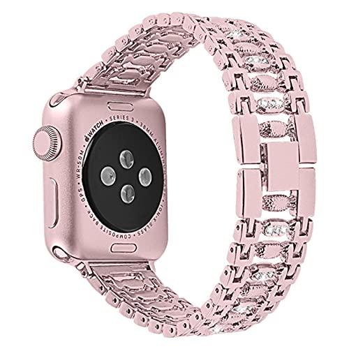 Correa de reloj de diamantes para mujer para Apple Watch 5 4 38 mm 42 mm 40 mm 44 mm iWatch Series 5 4 3 Correa de acero inoxidable Pulsera deportiva