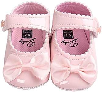 Fossen Kids Zapatos de Bebe Niñas Recién Nacido, Zapatos de Bebe Niño Primeros Pasos - Zapatos de Princesa Antideslizante Suela Blanda