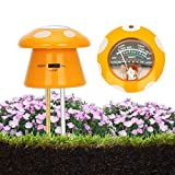 UNIWA Soil pH Meter, 3-in-1 Plant Soil Tester - Moisture & Light & pH Soil Tester Plant Soil Moisture Meter for Garden, Farm, Lawn, Indoor and Outdoor, Cute Mushroom Shape