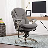Serta Works Ergonomic Executive Office Chair with Back in Motion Technology, Gray Bonded Leather