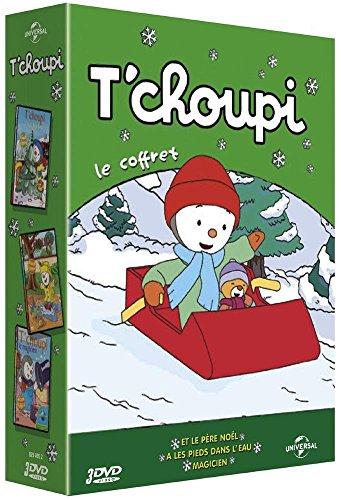 T'choupi - Le coffret - Et le Père Noël + À les pieds dans l'eau + Magicien