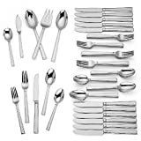 Lenox Bratton 65-piece Flatware Set, 9.85 LB, Metallic