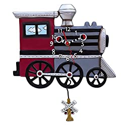 Allen Designs Choo Choo Train Pendulum Clock