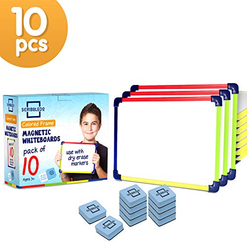"Colored Frame Magnetic Dry Erase White Boards Pack of 10 l 9"" X 12"" Whiteboard"