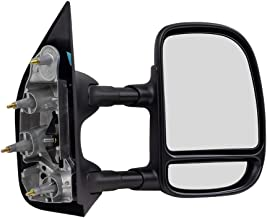 Passengers Manual Tow Telescopic Side View Mirror Dual Arms Double Swing Replacement for 03-16 Ford E-Series Van 7C2Z17682DA