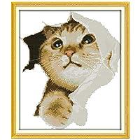 かわいい猫パターンカウントクロスステッチ11CT 14CTクロスステッチクロスステッチキット刺繍刺繍を設定します。 Cross-Stitch (Cross Stitch Fabric CT number : 14CT blank canvas)
