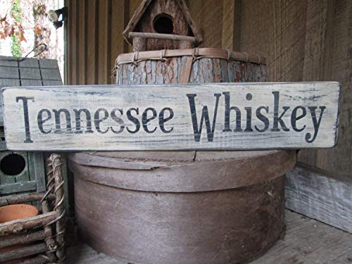 Tennessee Whiskey Rustieke Cabin Country Man Cave Patio Deck Hippie Boho Bar Saloon Handgemaakt om Bestel Jou Vandaag 12 In Citaat Decoratieve Teken Thuis Houten Teken Plaque