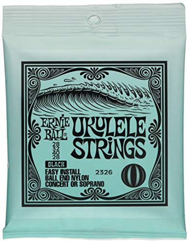 Ernie Ball Ukulele Strings (P02326),Black