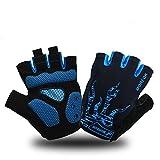 Best Gel Bike Gloves - MOREOK Shock-Absorbing Breathable Anti Slip Cycling Gloves Half Review
