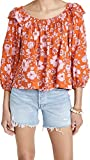Free People Women's Miss Daisy Printed Top, Heat Wave Combo, Small