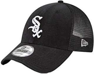 Chicago White Sox New Era Trucker 9FORTY Adjustable Snapback Hat Black