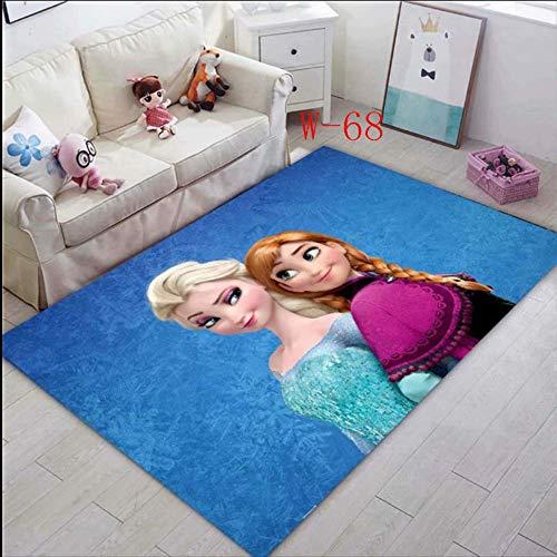 hhjxptst Teppich - ELSA Anna Princess Kinder Krabbeltier Teppich C 60x90cm