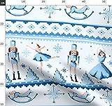 Nussknacker, Weihnachten, Ballett, Ballerina, Blau Stoffe -